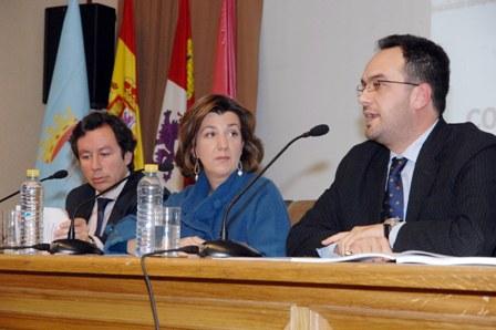 Carlos Floriano, Salomé Berrocal y Antonio Hernando